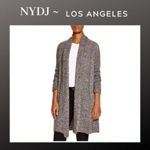 NYDJ | Metallic Grey Cardigan Sweater